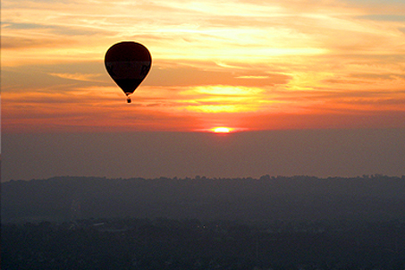 View of another balloon from our own