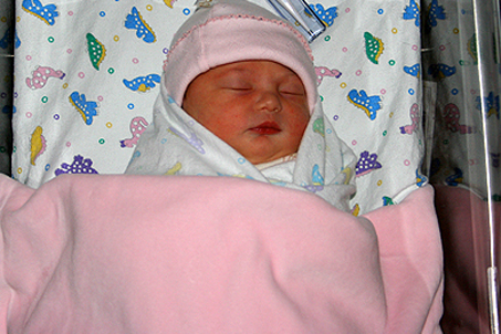 24-hour-old Carlie Nicole