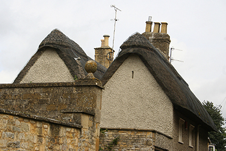 A beautiful thatched roof, not uncommon in this area
