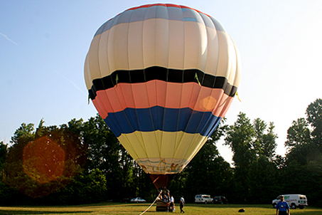 Balloon rides at Fort Pocahontas, the Tyler estate