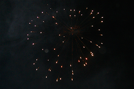 Not too shabby for home fireworks!