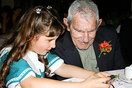 Grandpa Rob and Mary... enjoying digital photos together