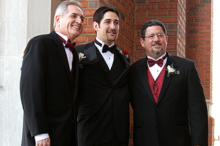 (L-R) Father of the Bride, Groom, Father of the Groom