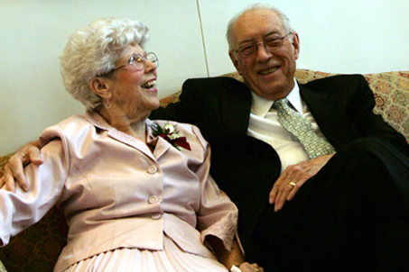 Mr. and Mrs. Howard Garrett — Grandparents of the Bride