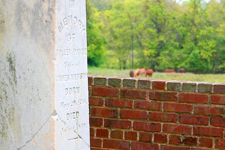 Obelisk marking the grave of Dolley Madison