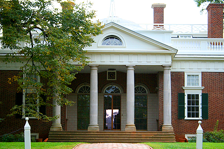 Monticello's front entrance