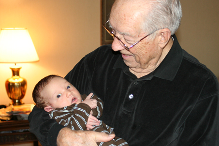 November—Calvin travels to Mama's birthplace (Alabama) and meets his Great-Grandparents