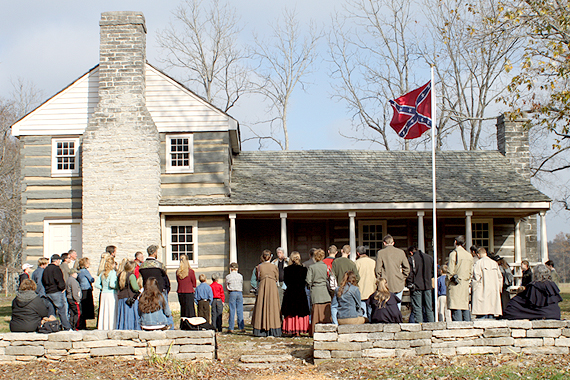 The tour begins at Forrest's boyhood home near Chapel Hill, Tennessee