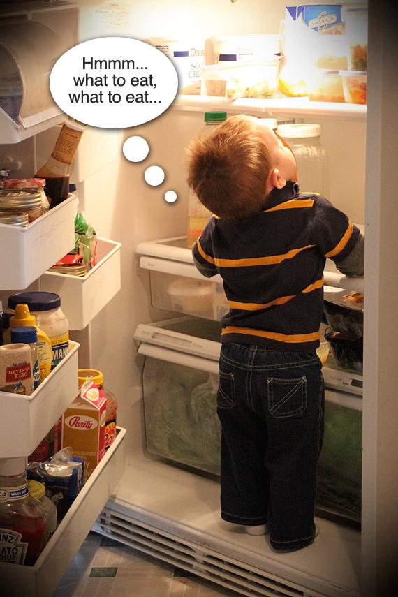 Calvin learned to raid the fridge this week