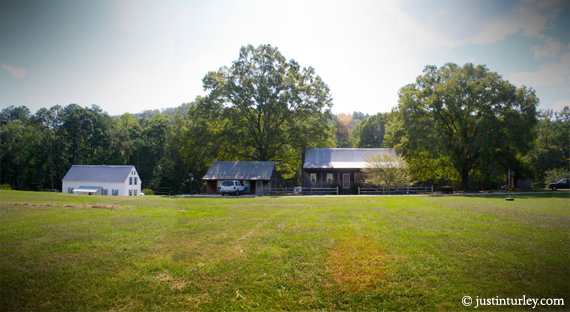 BEFORE (left to right): Home of the Tom Lee Family, office building, retreat center