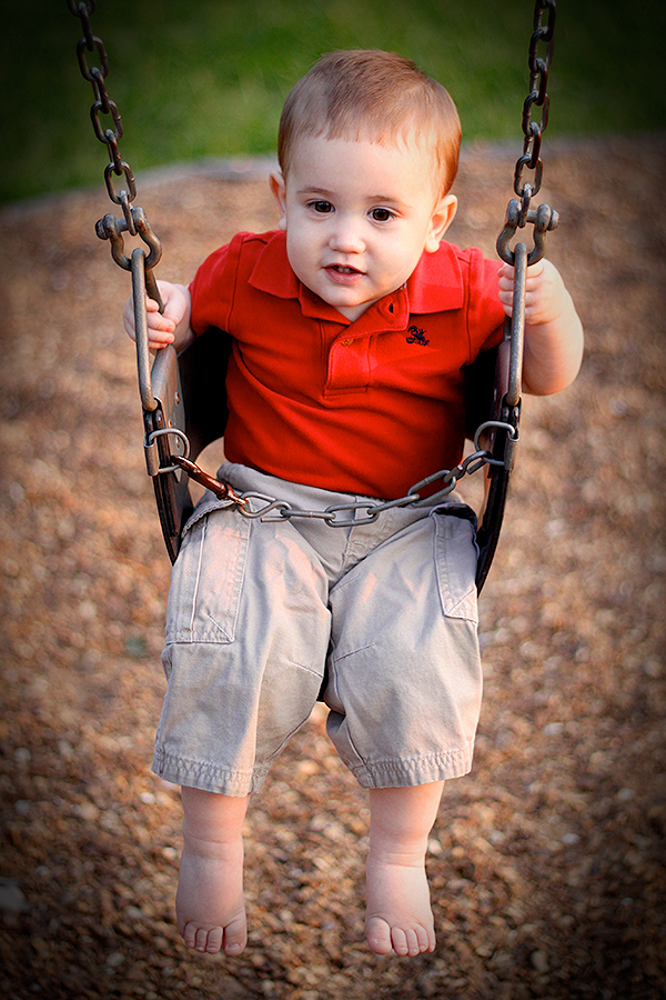 Christian's First Birthday — Swinging!