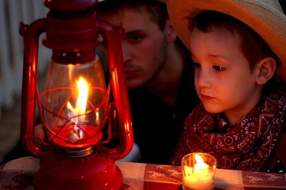 Lighting an Old-Fashioned Kerosene Lamp with Sam