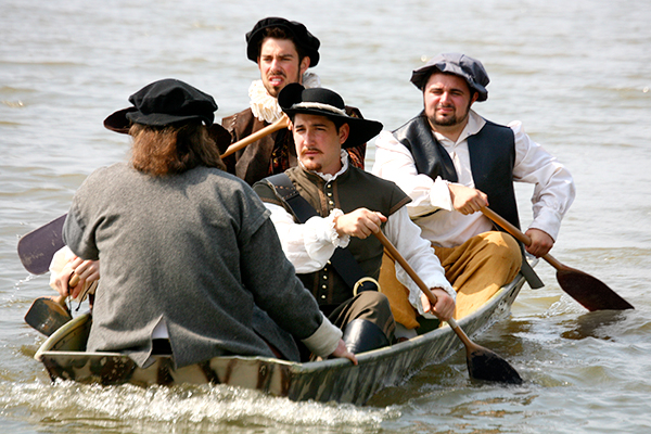 Reenacting the landing at Jamestown, 1607