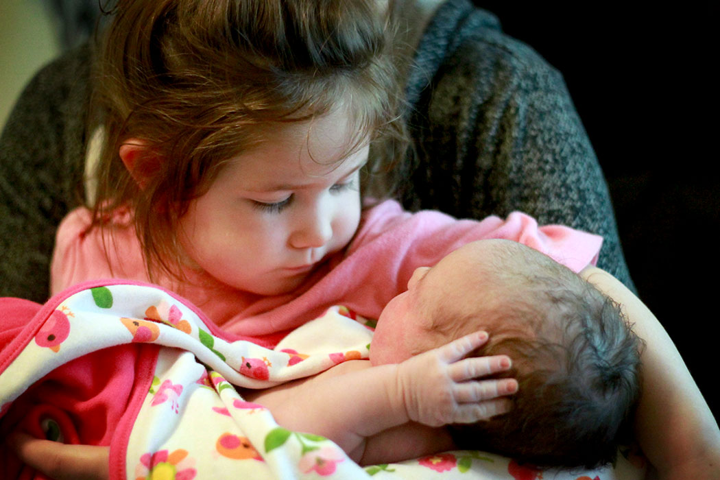A sister for Shiloh at last! And a real live baby doll to play with!
