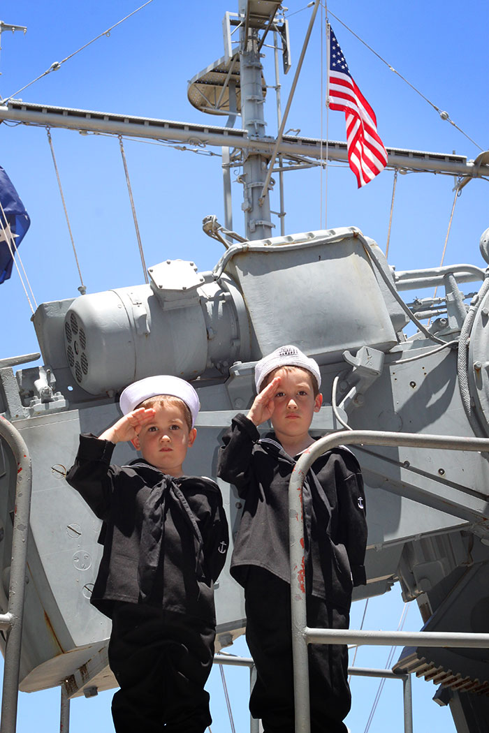 Two Little Sailors on a Great Big Gun