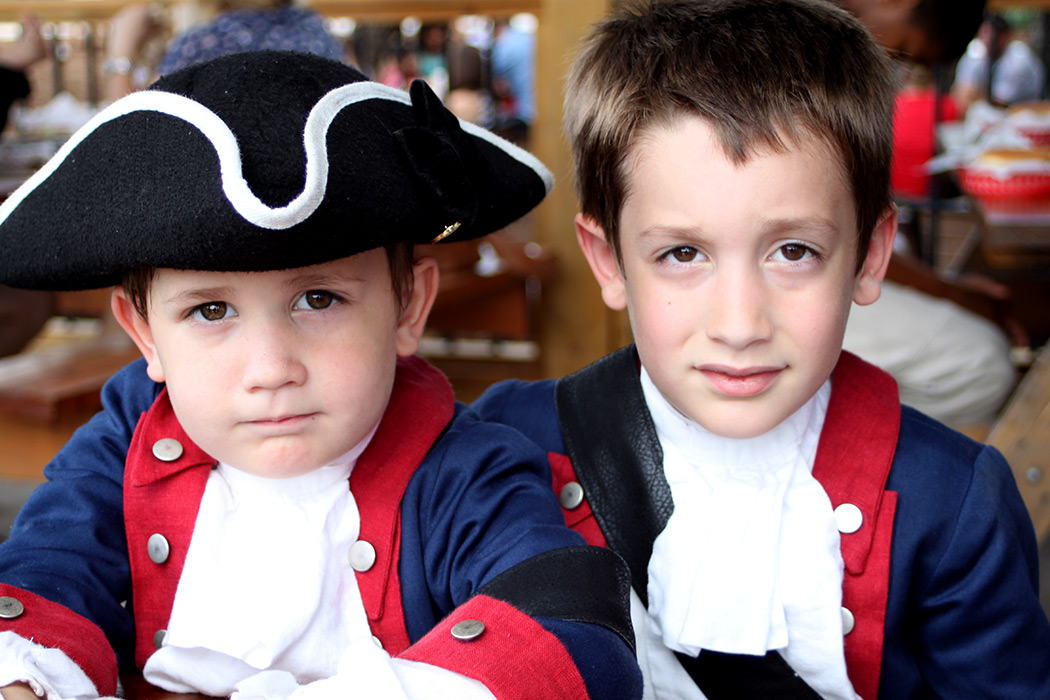 Our Little Patriots—Paul Revere (Christian) & George Washington (Calvin)