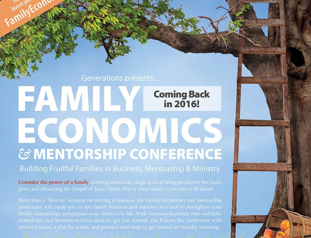 Family Economics Conference Magazine Ad