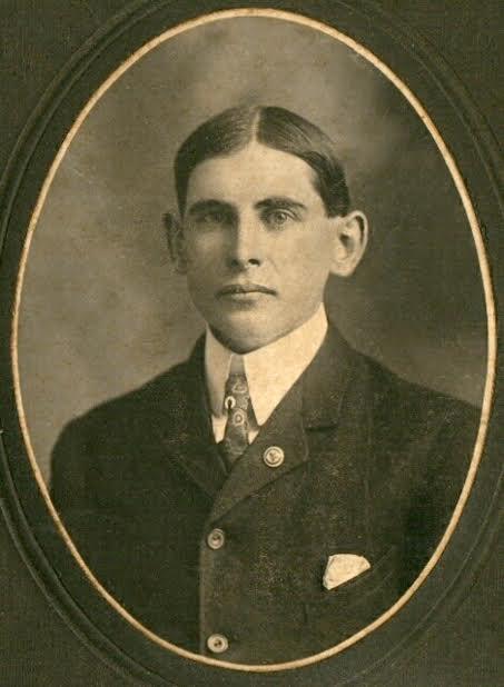 Calvin's Great-Great-Grandfather, Fred Calvin Blair, Sr. — Born September 1, 1884