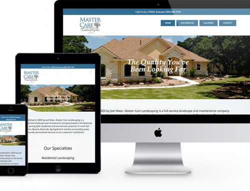 Master Care Landscaping Web Site