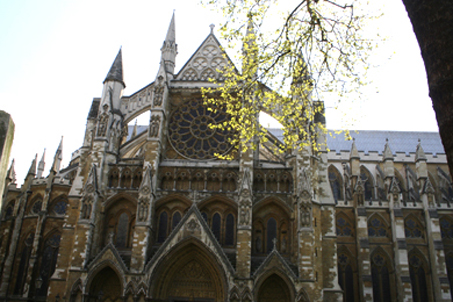 The ancient and imposing Westminster Abbey