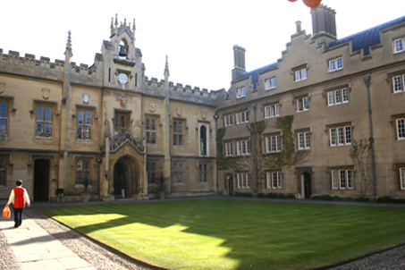 Sydney Sussex College — attended by Oliver Cromwell