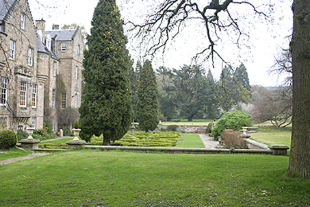 ...a 14th C. mansion just outside Edinburgh