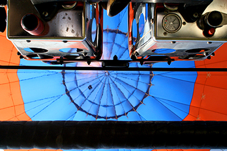 Peering straight up into the balloon