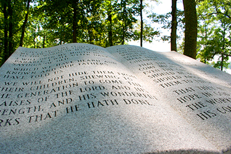 A monument planted by the Grateful Children of America