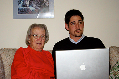Showing Grammy my iPhoto Library