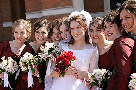 (L-R) Peyton, Megan, Molly, Lindsay, Melissa, Sarah, Jennie, and Katie
