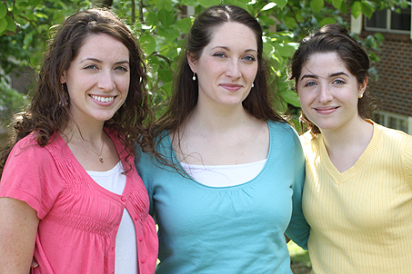 Definitely sisters! My wife with her sisters Lindsay (L) and Sarah (R)
