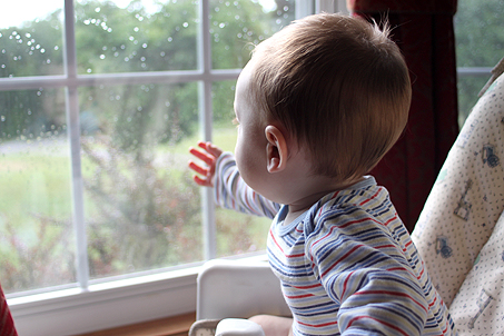 Longing to be outside, despite the rainy weather