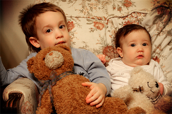Few things are cuter than little boys and their bears