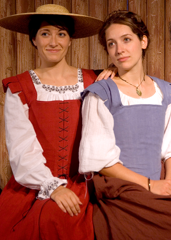 Melissa and her sister Lindsay in 17th-Century attire