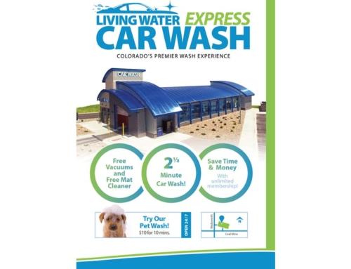 Living Water Express Car Wash Flyer